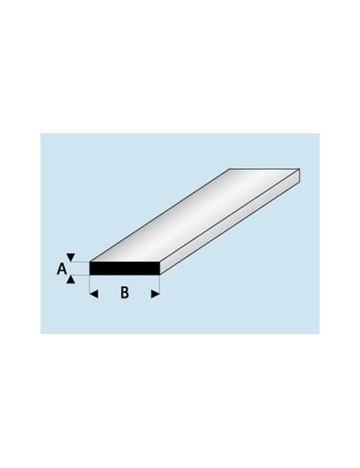 Profilé styrène Plat 1,0 mm
