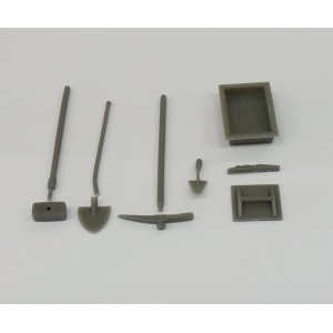SET OUTILS MACONNERIE 1/32 RESINE