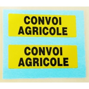 DECALQUES CONVOI AGRI X 2